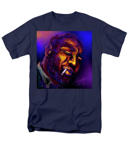 Men's T-Shirt  (Regular Fit) featuring the painting Thelonious My Old Friend by DC Langer