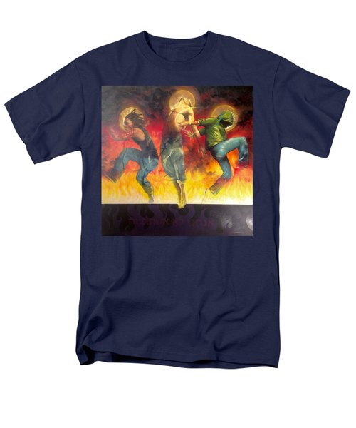 Men's T-Shirt  (Regular Fit) featuring the painting Through The Fire by Christopher Marion Thomas