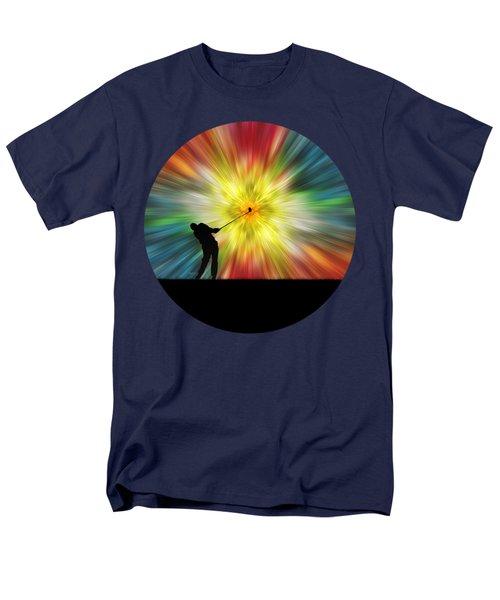 Tie Dye Silhouette Golfer Men's T-Shirt  (Regular Fit) by Phil Perkins