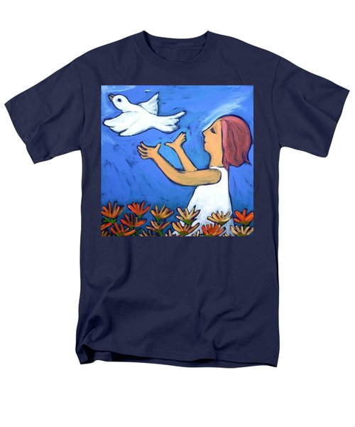 Men's T-Shirt  (Regular Fit) featuring the painting To Fly Free by Winsome Gunning