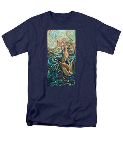 Treasure Mermaid Men's T-Shirt  (Regular Fit) by Linda Olsen