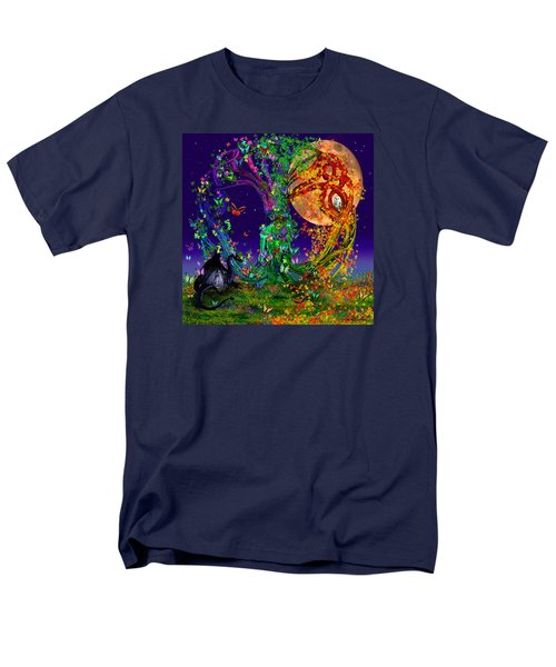 Tree Of Life With Owl And Dragon Men's T-Shirt  (Regular Fit) by Michele Avanti