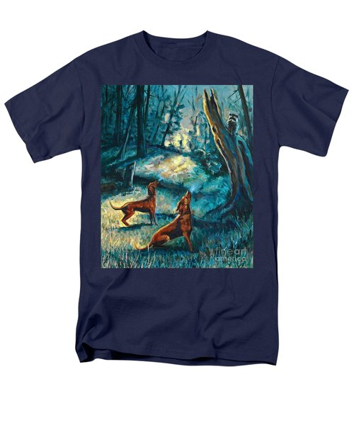 Men's T-Shirt  (Regular Fit) featuring the painting Treed At Dawn by Suzanne McKee