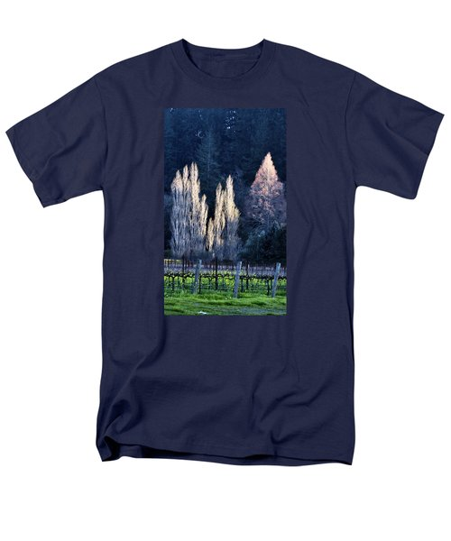 Trees In Fall Napa Valley Men's T-Shirt  (Regular Fit) by Josephine Buschman