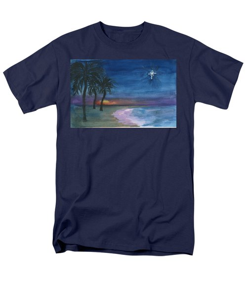 Men's T-Shirt  (Regular Fit) featuring the painting Tropical Christmas by Donna Walsh