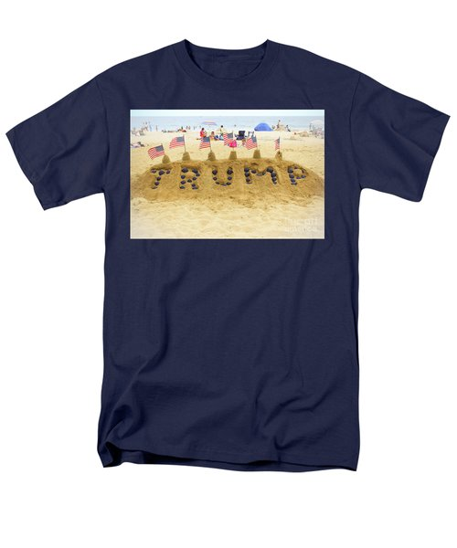 Men's T-Shirt  (Regular Fit) featuring the photograph Trump - Sandcastle by Colleen Kammerer