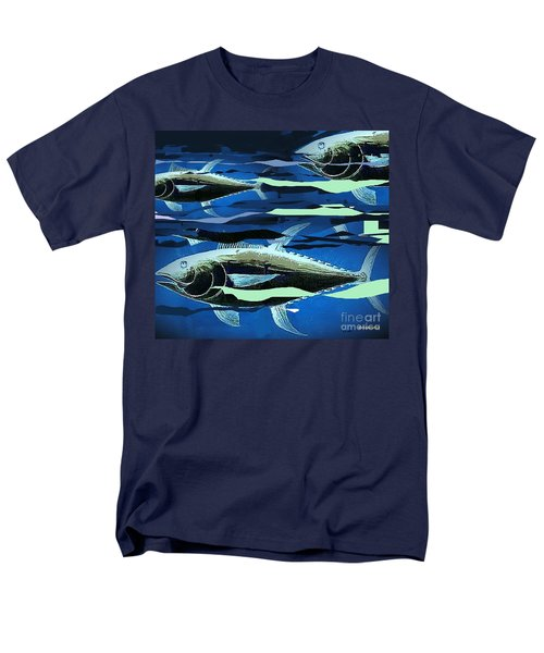 Men's T-Shirt  (Regular Fit) featuring the painting Tuna Run by Andrew Drozdowicz