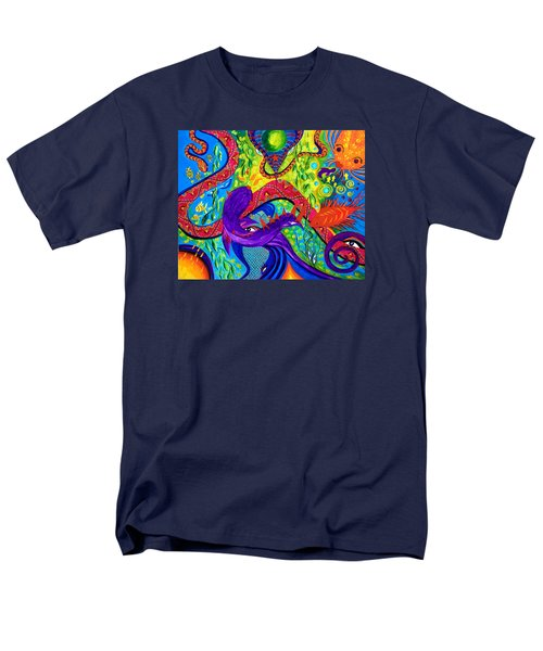 Men's T-Shirt  (Regular Fit) featuring the painting Undersea Adventure by Marina Petro