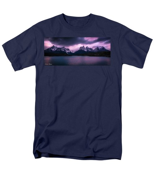 Men's T-Shirt  (Regular Fit) featuring the photograph Twilight Over The Lake by Andrew Matwijec