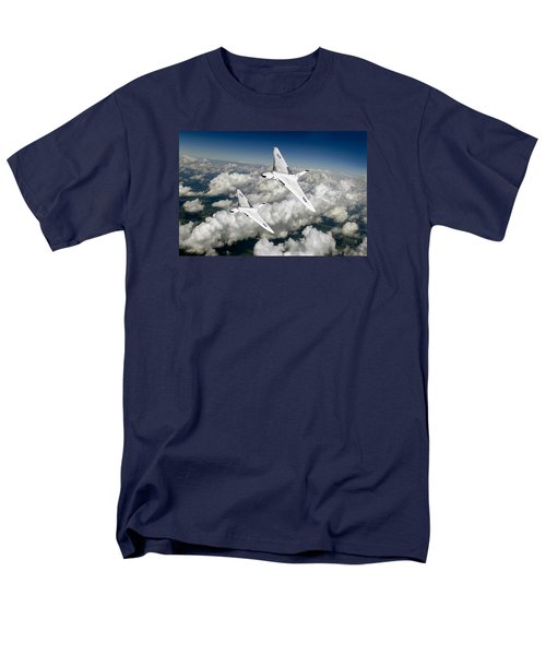 Men's T-Shirt  (Regular Fit) featuring the photograph Two Avro Vulcan B1 Nuclear Bombers by Gary Eason