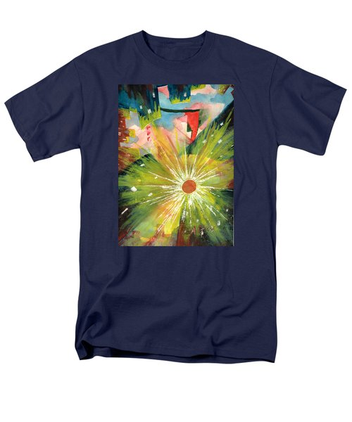 Men's T-Shirt  (Regular Fit) featuring the painting Urban Sunburst by Andrew Gillette