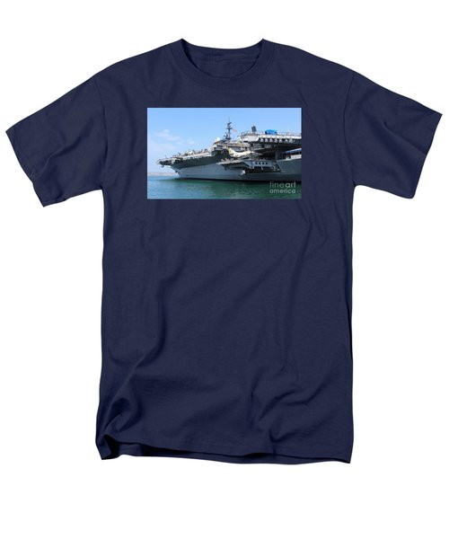 Men's T-Shirt  (Regular Fit) featuring the photograph Uss Midway Carrier by Cheryl Del Toro