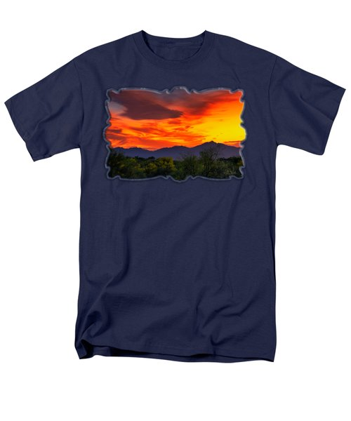 Valley Sunset H32 Men's T-Shirt  (Regular Fit) by Mark Myhaver