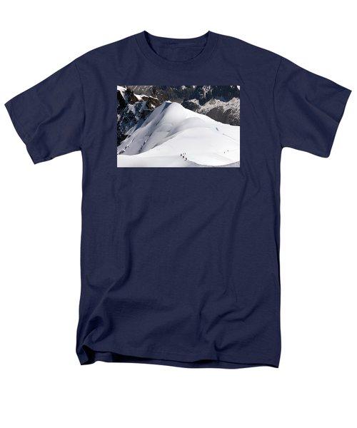 View From Aguille Du Midi Men's T-Shirt  (Regular Fit) by Aivar Mikko