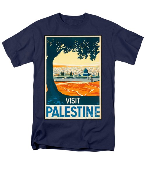 Vintage Palestine Travel Poster Men's T-Shirt  (Regular Fit) by George Pedro