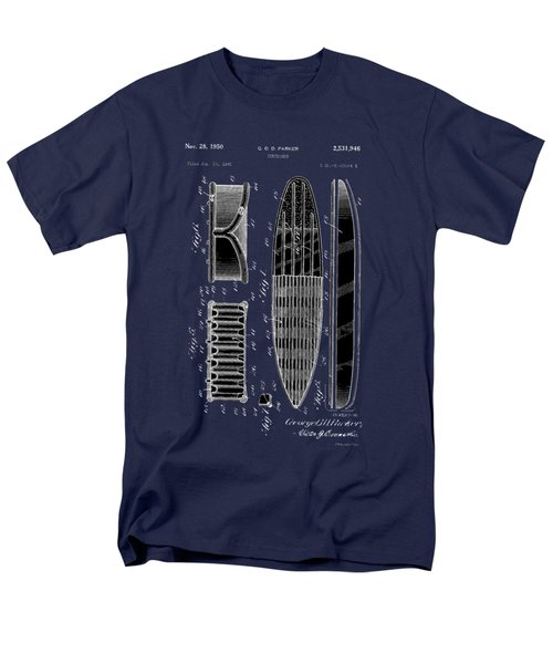 Men's T-Shirt  (Regular Fit) featuring the photograph Vintage Surf Board Patent 1950 by Bill Cannon