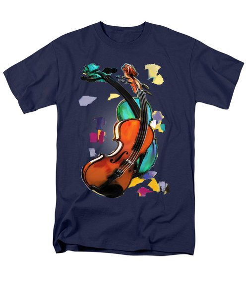 Violins Men's T-Shirt  (Regular Fit) by Melanie D
