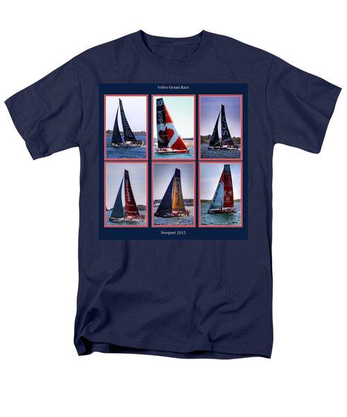 Men's T-Shirt  (Regular Fit) featuring the photograph Volvo Ocean Race Newport 2015 by Tom Prendergast