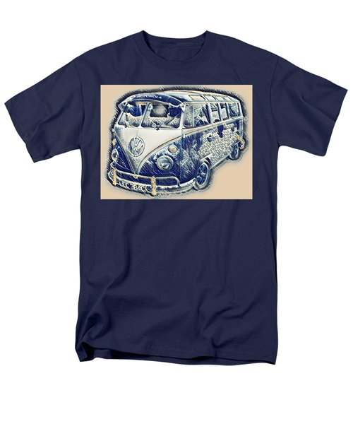 Vw Camper Van Waves Men's T-Shirt  (Regular Fit) by John Colley
