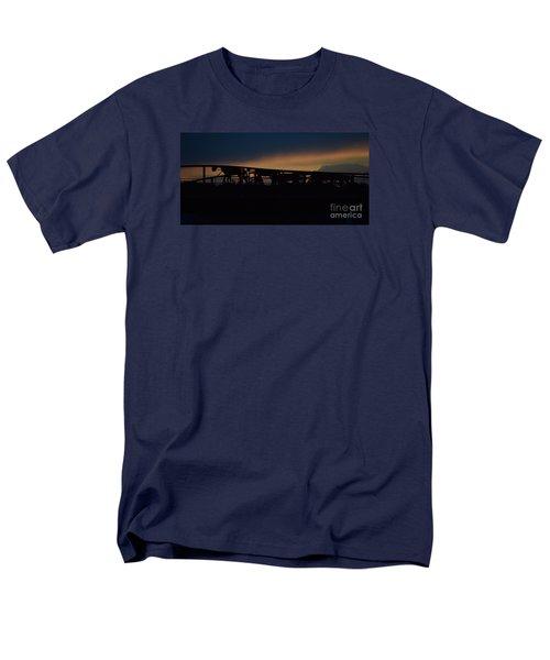Men's T-Shirt  (Regular Fit) featuring the photograph Wagon Train Slihoutte by Mark McReynolds