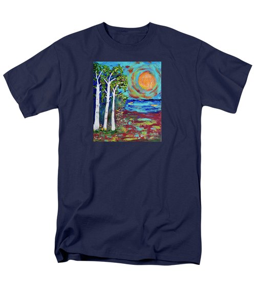 Men's T-Shirt  (Regular Fit) featuring the painting Warmth Of The Sun by Haleh Mahbod