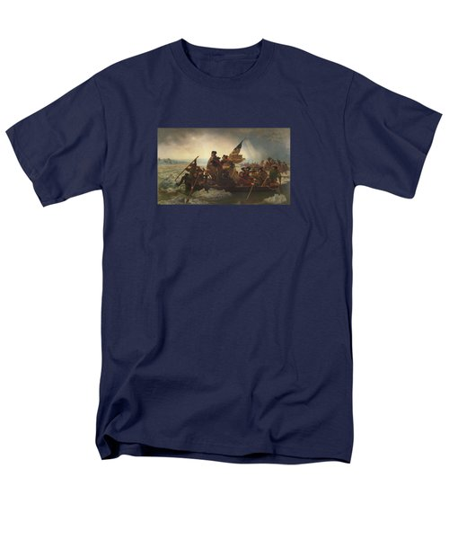 Washington Crossing The Delaware Painting  Men's T-Shirt  (Regular Fit) by Emanuel Gottlieb Leutze