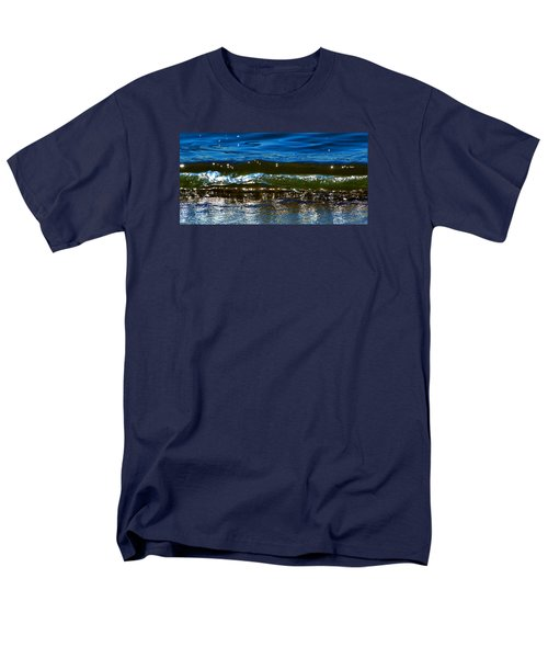 Men's T-Shirt  (Regular Fit) featuring the photograph Waves Water Light 2  by Lyle Crump