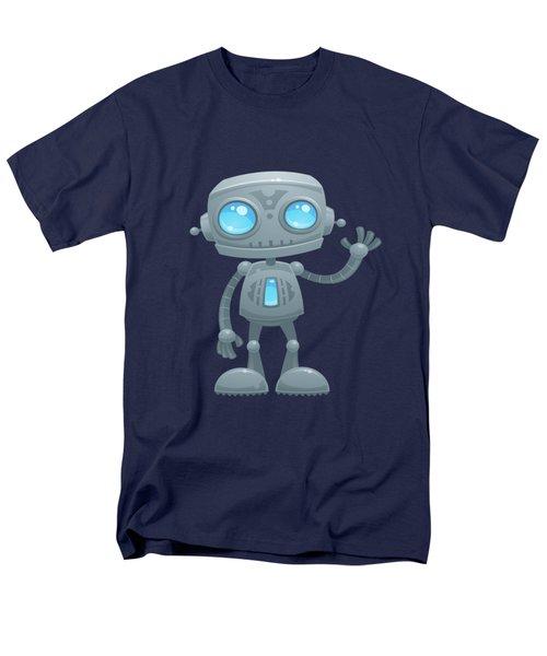 Waving Robot Men's T-Shirt  (Regular Fit) by John Schwegel