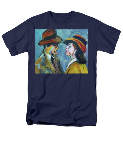 Men's T-Shirt  (Regular Fit) featuring the painting We'll Always Have Paris by Les Leffingwell