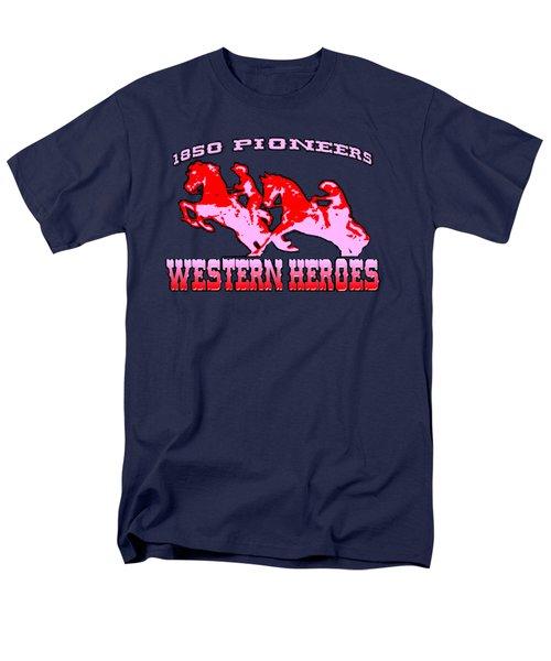 Western Heroes 1850 Pioneers - Tshirt Design Men's T-Shirt  (Regular Fit)