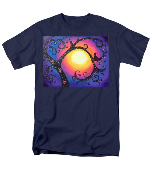 Whimsical Tree At Sunset Men's T-Shirt  (Regular Fit) by Diana Riukas