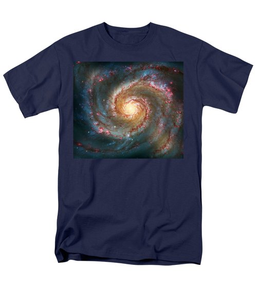 Whirlpool Galaxy  Men's T-Shirt  (Regular Fit) by Jennifer Rondinelli Reilly - Fine Art Photography