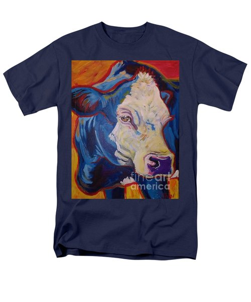White Face Cow Men's T-Shirt  (Regular Fit) by Jenn Cunningham