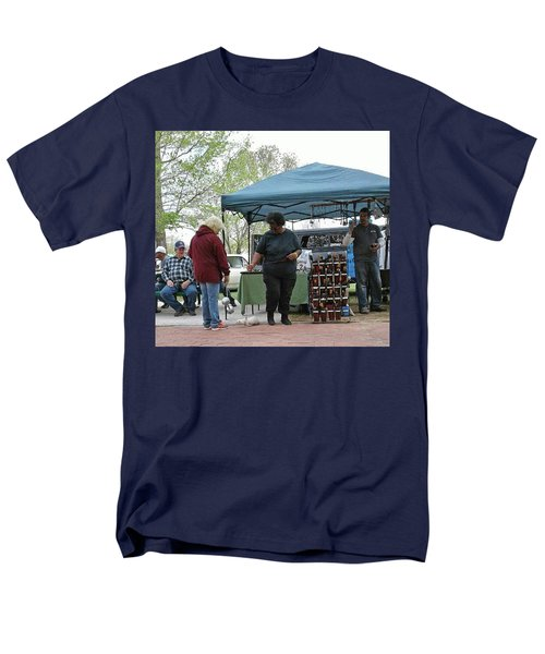 Men's T-Shirt  (Regular Fit) featuring the photograph White Ferret Car Show by Jack Pumphrey