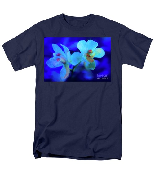 Men's T-Shirt  (Regular Fit) featuring the digital art White Painted Orchids by Darleen Stry
