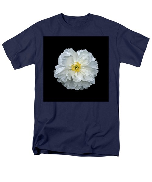 White Peony Men's T-Shirt  (Regular Fit) by Charles Harden