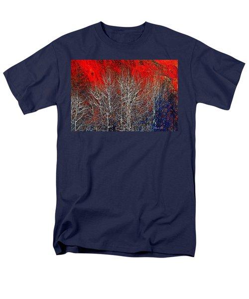 White Trees Men's T-Shirt  (Regular Fit)