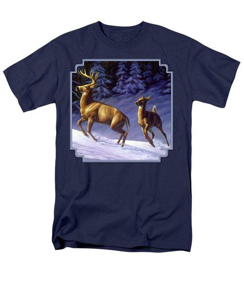 Whitetail Deer Painting - Startled Men's T-Shirt  (Regular Fit)