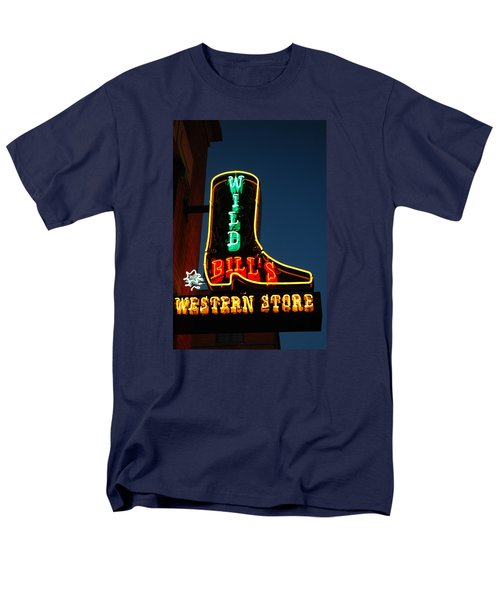 Men's T-Shirt  (Regular Fit) featuring the photograph Wild Bills Western Store by James Kirkikis