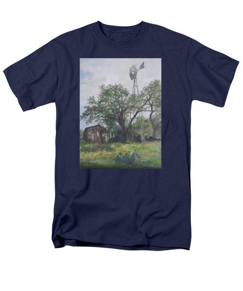 Windmill At Genhaven Men's T-Shirt  (Regular Fit) by Connie Schaertl