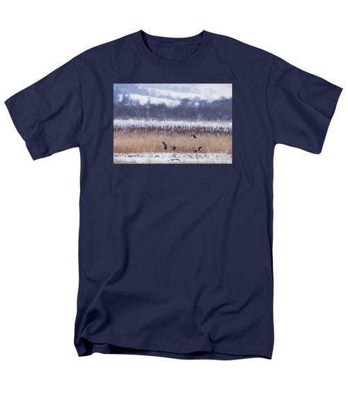 Winter Lapwings Men's T-Shirt  (Regular Fit) by Liz Leyden