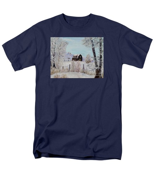 Men's T-Shirt  (Regular Fit) featuring the painting Winter Solace by Marilyn  McNish