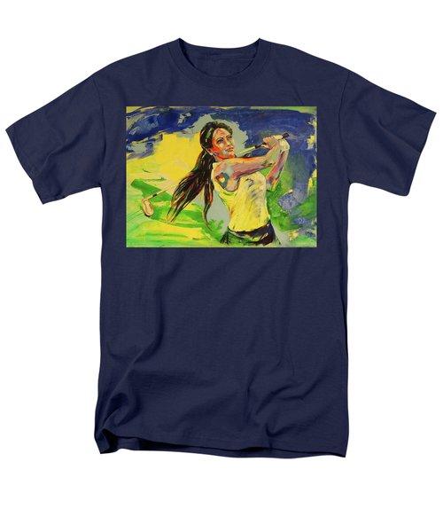 Wird Es Das Grun Erreichen  Will It Reach The Green Men's T-Shirt  (Regular Fit) by Koro Arandia