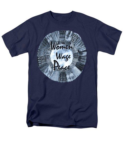 Women Wage Peace Blue Men's T-Shirt  (Regular Fit) by Michele Avanti