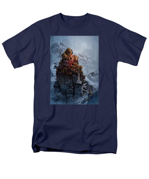 Men's T-Shirt  (Regular Fit) featuring the digital art Wonders Holy Temple by Te Hu
