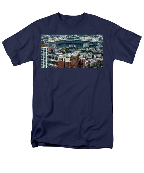 Wrigley Field Park Place Towers During The Day Dsc4743 Men's T-Shirt  (Regular Fit) by Raymond Kunst