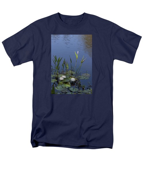 Men's T-Shirt  (Regular Fit) featuring the photograph Yawkey Wildlife Reguge Water Lilies With Rare Plant by Suzanne Gaff