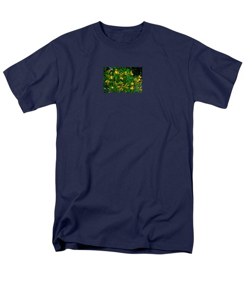 Men's T-Shirt  (Regular Fit) featuring the photograph Yellow Lily Flowers by Susanne Van Hulst
