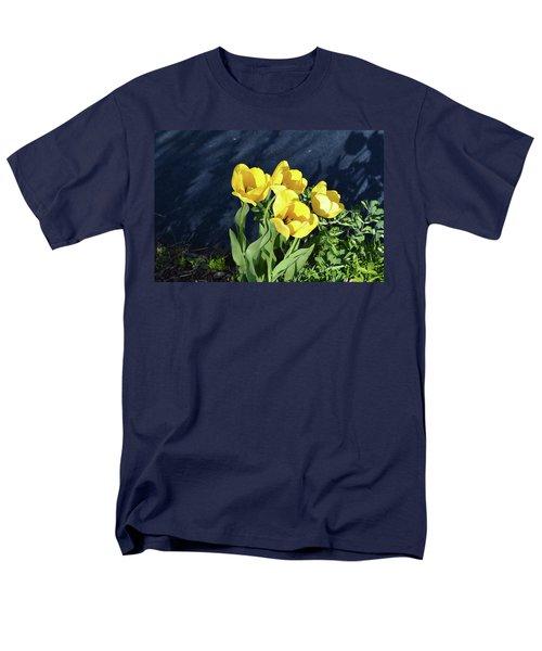 Yellow Tulips Men's T-Shirt  (Regular Fit) by Kathleen Stephens