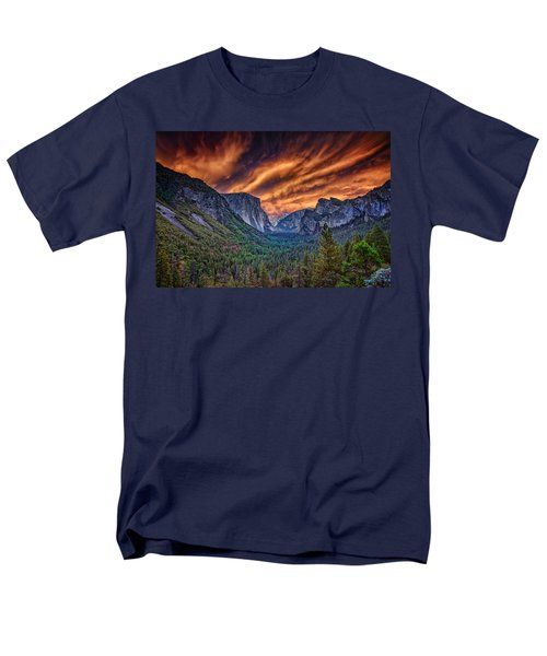 Yosemite Fire Men's T-Shirt  (Regular Fit) by Rick Berk